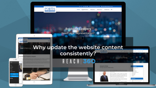 Why update the website content consistently?